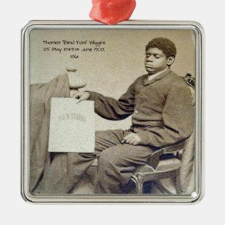 """Ornement Carré Argenté Thomas """"Tom aveugle"""" Wiggins, 1861"""