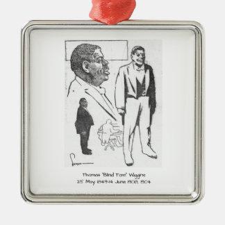 """Ornement Carré Argenté Thomas """"Tom aveugle"""" Wiggins, 1904"""