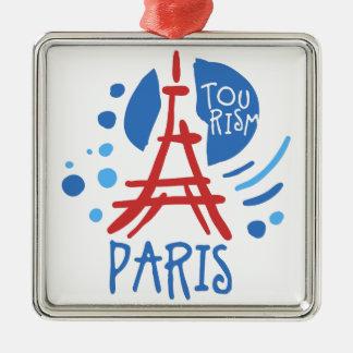 Ornement Carré Argenté Tourisme de Paris