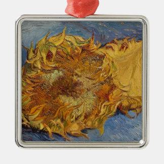 Ornement Carré Argenté Tournesols de Vincent van Gogh |, 1887