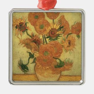 Ornement Carré Argenté Tournesols de Vincent van Gogh |, 1889