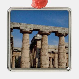 Ornement Carré Argenté tours de marbre de la Grèce antique