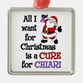 Ornement Carré Argenté Tous que je veux pour Noël… Chiari
