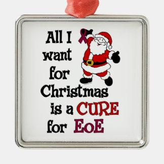 Ornement Carré Argenté Tous que je veux pour Noël… EoE