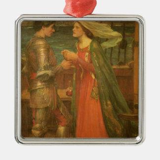 Ornement Carré Argenté Tristan et Isolde par le château d'eau, beaux-arts