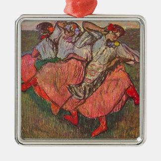 Ornement Carré Argenté Trois danseurs russes par Edgar Degas