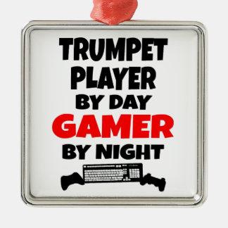 Ornement Carré Argenté Trompettiste de Gamer