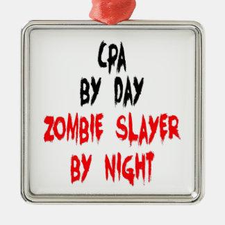 Ornement Carré Argenté Tueur CPA de zombi