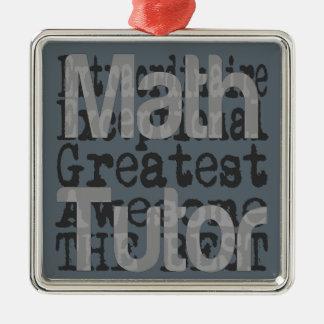 Ornement Carré Argenté Tuteur de maths Extraordinaire