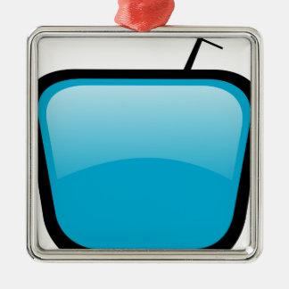 Ornement Carré Argenté TV comique