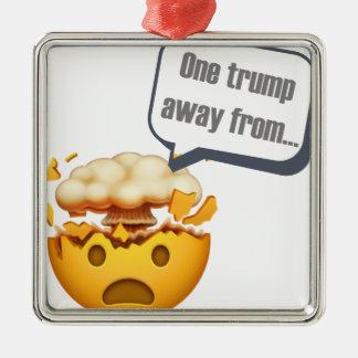 Ornement Carré Argenté un atout à partir - d'Emoji