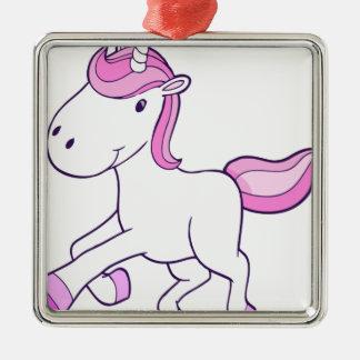 Ornement Carré Argenté unicorn11