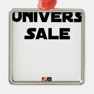 Ornement Carré Argenté UNIVERS SALE - Jeux de mots - Francois Ville