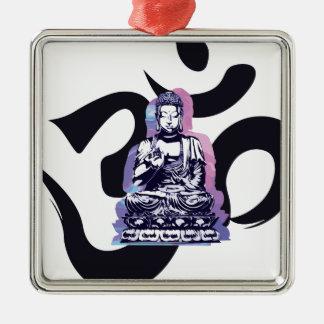 Ornement Carré Argenté vague 3 de Bouddha