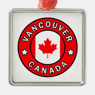 Ornement Carré Argenté Vancouver Canada