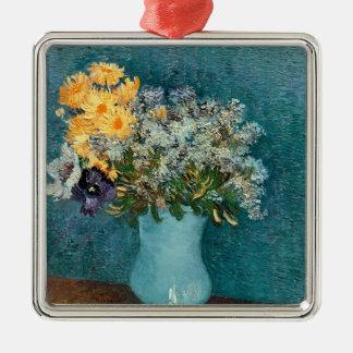 Ornement Carré Argenté Vase à Vincent van Gogh | de fleurs, 1887