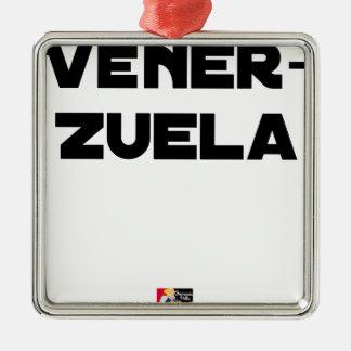 Ornement Carré Argenté VÉNER-ZUELA - Jeux de mots - Francois Ville