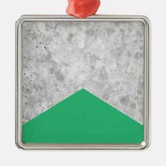Ornement Carré Argenté Vert concret #175 de flèche