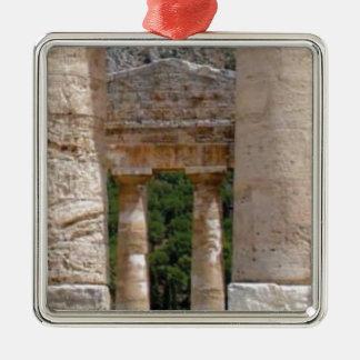 Ornement Carré Argenté vieilles ruines de pierre