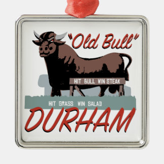 Ornement Carré Argenté Vieux Taureau Durham