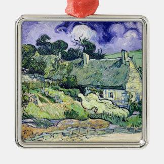 Ornement Carré Argenté Vincent van Gogh | a couvert des cottages de