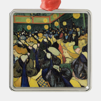 Ornement Carré Argenté Vincent van Gogh | la salle de danse chez Arles,