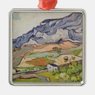 Ornement Carré Argenté Vincent van Gogh | l'Alpilles, 1890