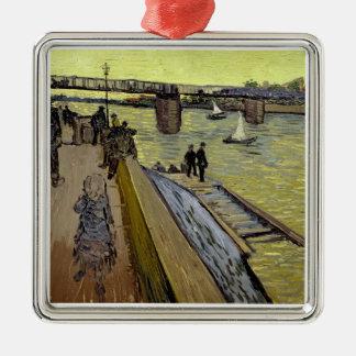 Ornement Carré Argenté Vincent van Gogh | Le Pont de Trinquetaille Arles