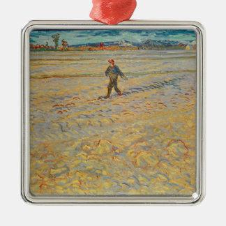 Ornement Carré Argenté Vincent van Gogh | le semeur, 1888