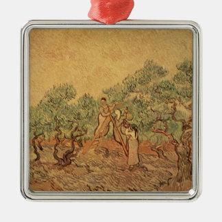 Ornement Carré Argenté Vincent van Gogh | le verger olive, 1889