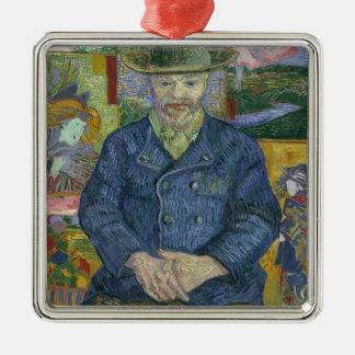 Ornement Carré Argenté Vincent van Gogh - portrait de Pere Tanguy