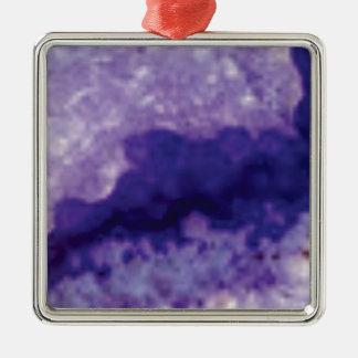Ornement Carré Argenté violette de crevasse de fente