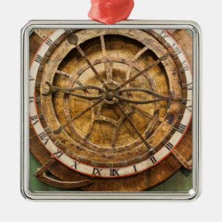 Ornement Carré Argenté Visage d'horloge antique, Allemagne