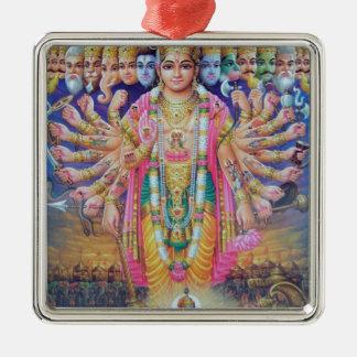 Ornement Carré Argenté Vishnu