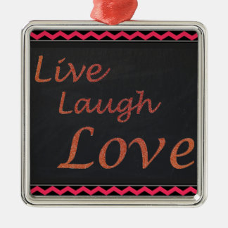 Ornement Carré Argenté Vivent l'amour de rire