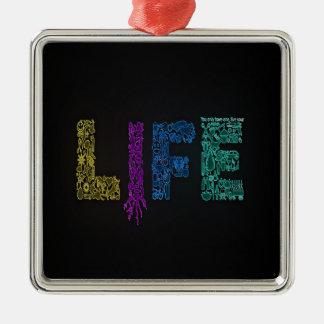 Ornement Carré Argenté Vivent votre vie