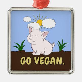 Ornement Carré Argenté Vont le végétalien - porc mignon