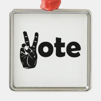 Ornement Carré Argenté Vote d'illustration pour la paix