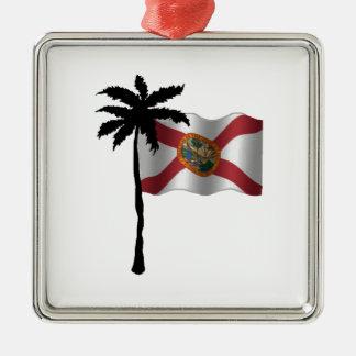 ORNEMENT CARRÉ ARGENTÉ VOYAGE VERS LA FLORIDE