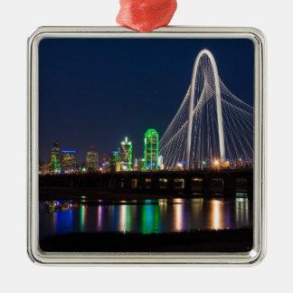 Ornement Carré Argenté Vue de pont de Dallas
