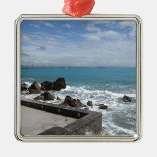 Ornement Carré Argenté Vue panoramique de côte de Castiglioncello en