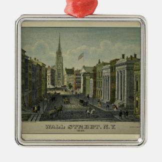 Ornement Carré Argenté Wall Street 1847