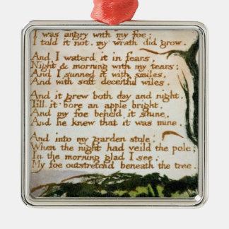 Ornement Carré Argenté William Blake | un arbre de poison