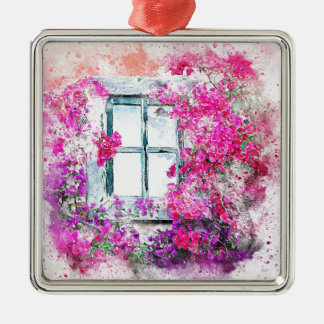 Ornement Carré Argenté window-2638837_1920
