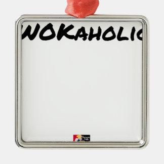 Ornement Carré Argenté WOKAHOLIC - Jeux de mots - Francois Ville