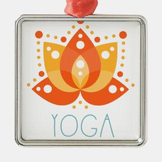 Ornement Carré Argenté Yoga
