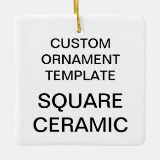 Ornement carré d'arbre de Noël de porcelaine de