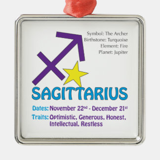 Ornement carré de traits de Sagittaire