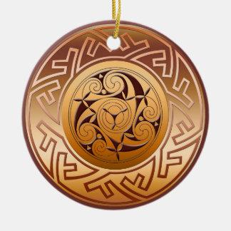 Ornement celtique de Noël de clé et de spirale