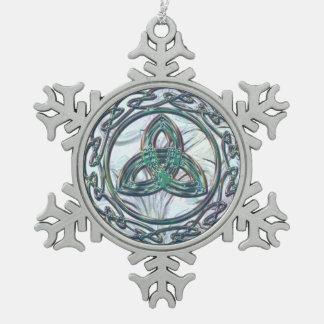 Ornement celtique vert en bon état de Noël de